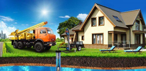 Бурение скважины на воду- обязательное условие для проведения водопровода
